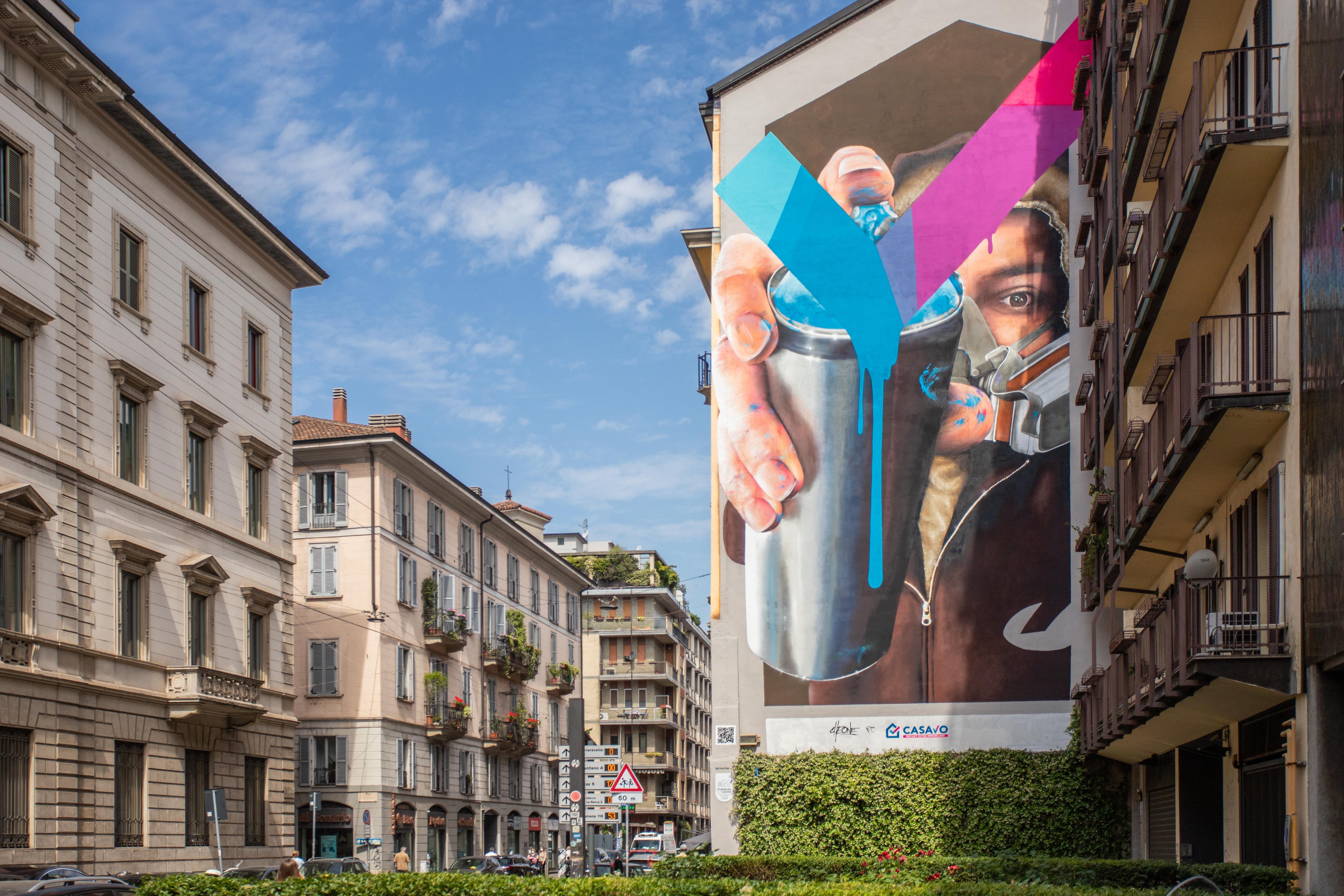 Un murales per la città di Milano