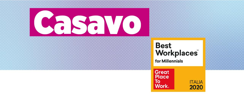Casavo nominata Best Workplace for Millennials 2020 Italia!