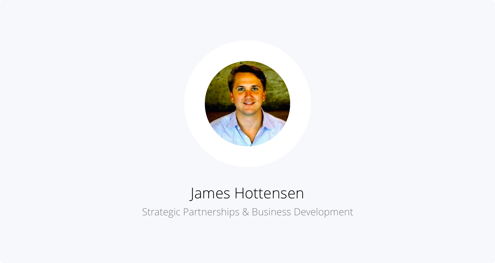 James, a former VC, now a strategic partnerships manager at Capbase