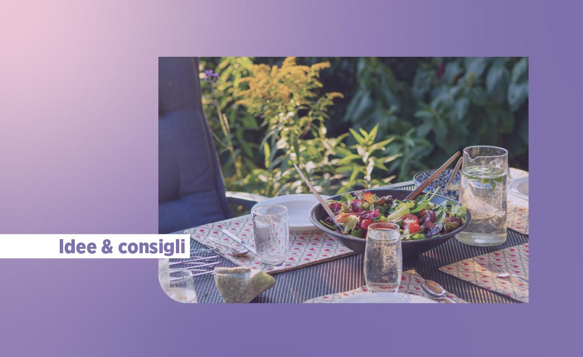 10 consigli su come organizzare una cena all'aperto